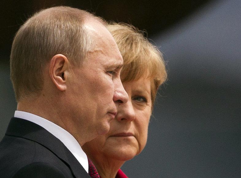 Angela Merkel ja Vladimir Putin.