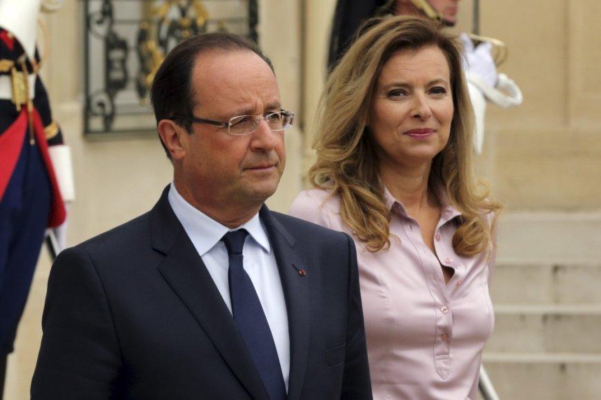Francois Hollande'as ir Valerie Trierweiler