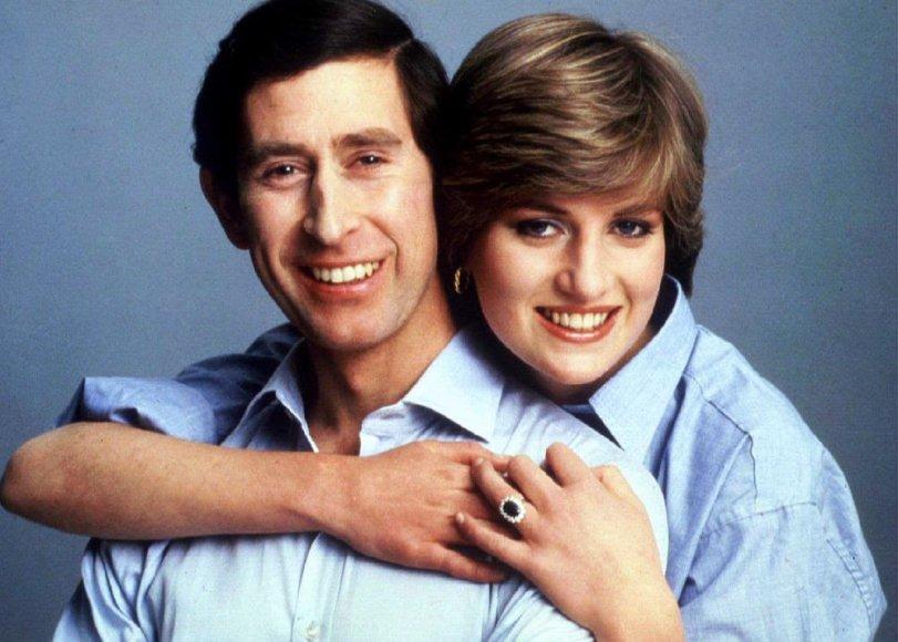 Princo Charleso ir Dianos Spencer nuotrauka, paviešinta jų vestuvių 1981 m. dieną