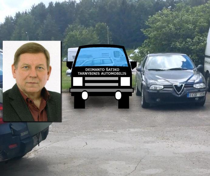 Deimantas Šatikas tarnybiniu Gamtos tyrimų centro automobiliu vyko į kitą darbą