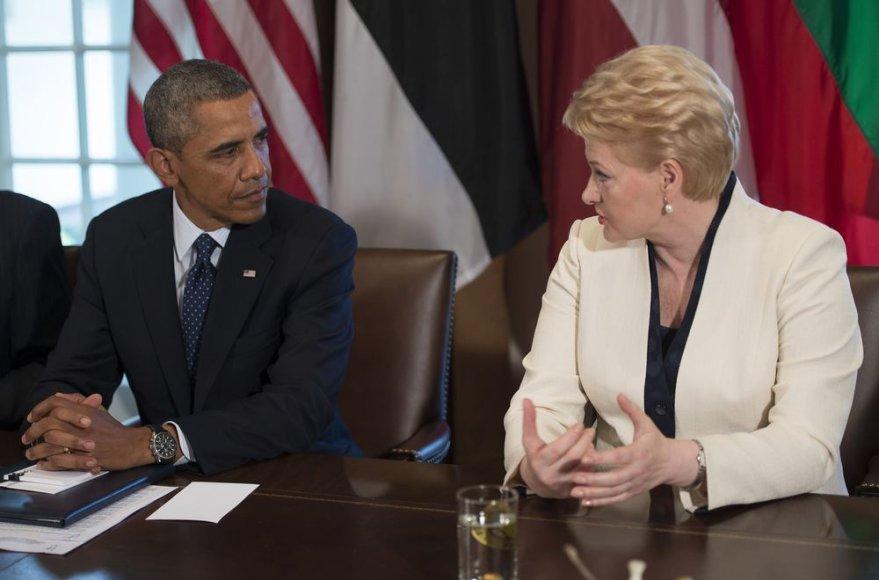 Baracko Obamos ir Baltijos šalių vadovų susitikimas