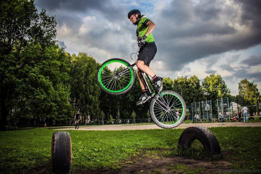 """""""GreenTrials"""" dviratininkas"""