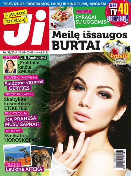 """2014 m. rugpjūčio mėnesio žurnalo """"Ji"""" Nr. 31"""