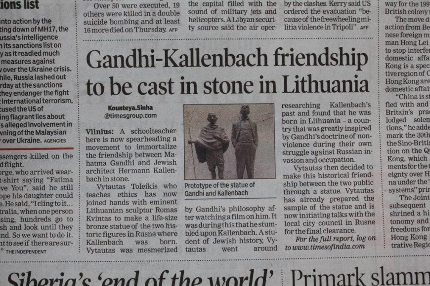 """Tekstas apie Rusnę dienraštyje """"Times of India"""""""