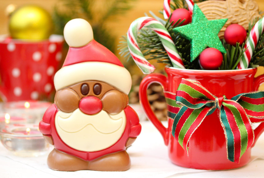 Šokoladinis Kalėdų senelis