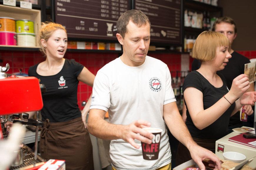 """""""Vero cafe"""" akcija tarptautinei organų donorystės dienai paminėti"""