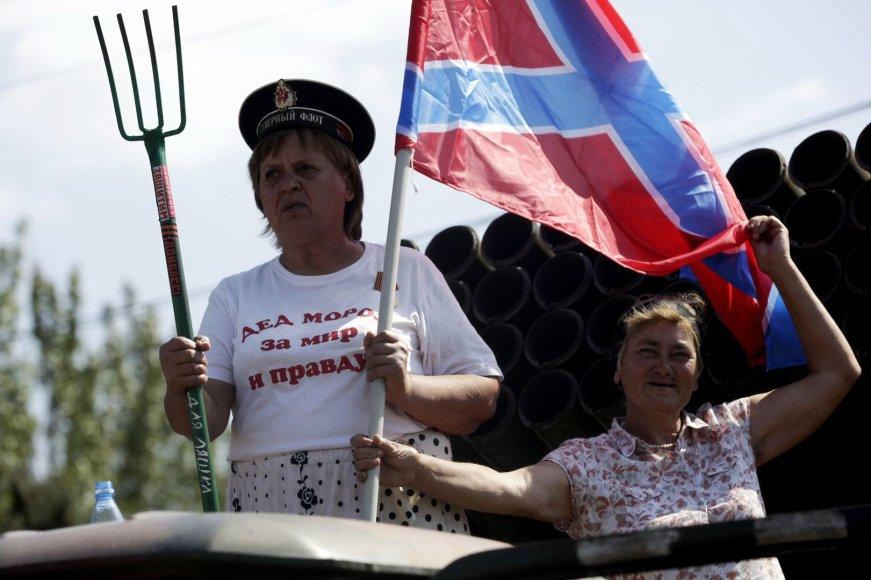 Rusiją ir teroristus palaikančios Donbaso gyventojos