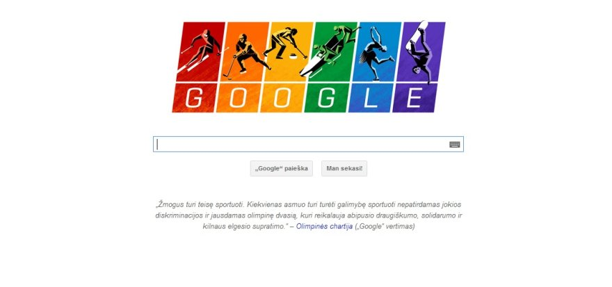 """""""Google"""" Sočio olimpinių žaidynių logotipas"""