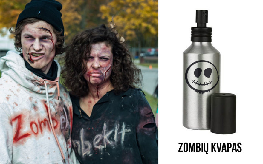 """Lietuvoje pristatyti kvepalai – """"Zombių kvapas""""."""