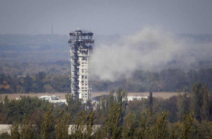 Dėl nuolatinio teroristų apšaudymo Donecko oro uostas beveik sugriautas