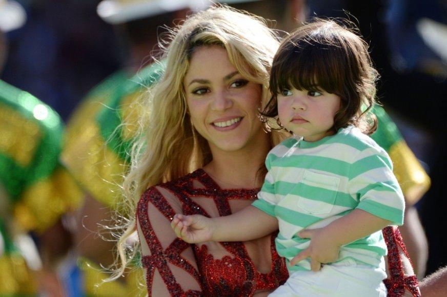 Shakira su sūnumi Milanu