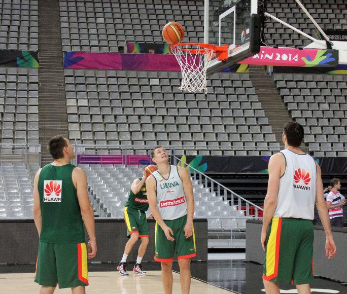 Lietuvos krepšinio rinktinė treniruotėje