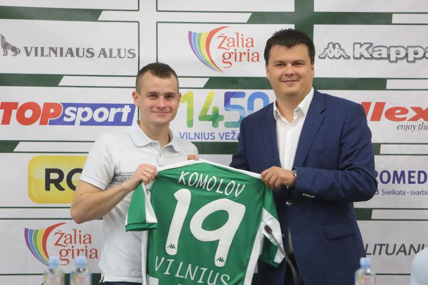 Pavelas Komolovas ir Mindaugas Nikoličius