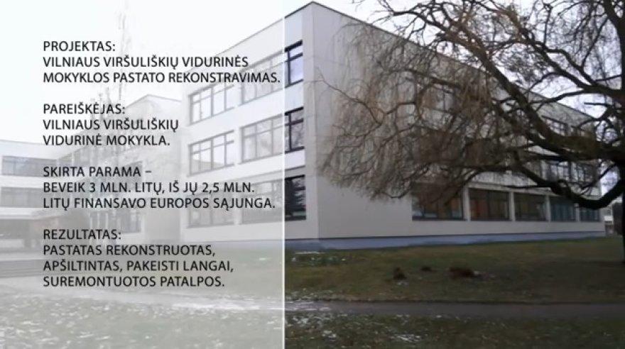 Renovuota Vilniaus Viršuliškių vidurinė mokykla