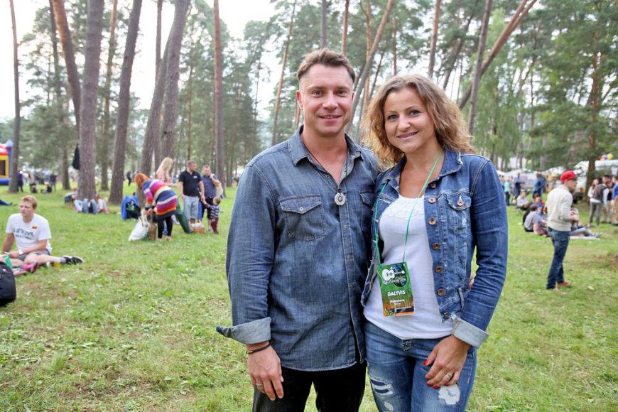 Darius Mileris-Nojus su žmona Asta
