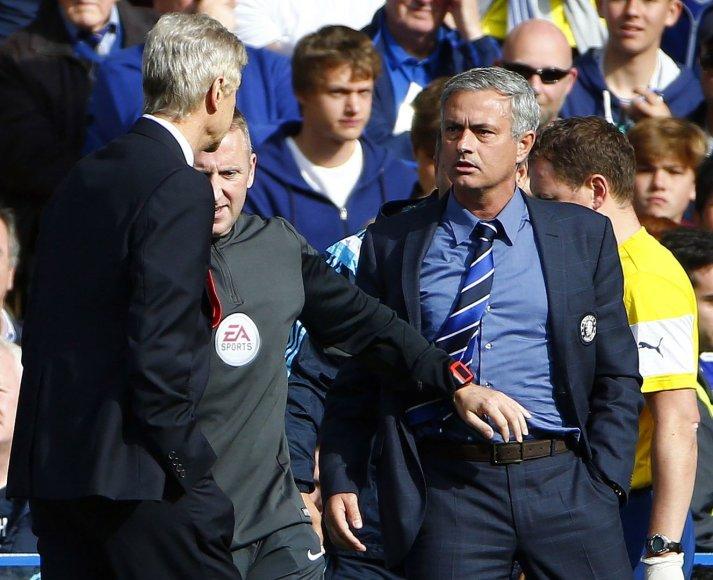 Arsene'as Wengeras ir Jose Mourinho