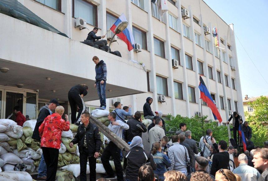 Prorusiški aktyvistai Mariupolio mieste