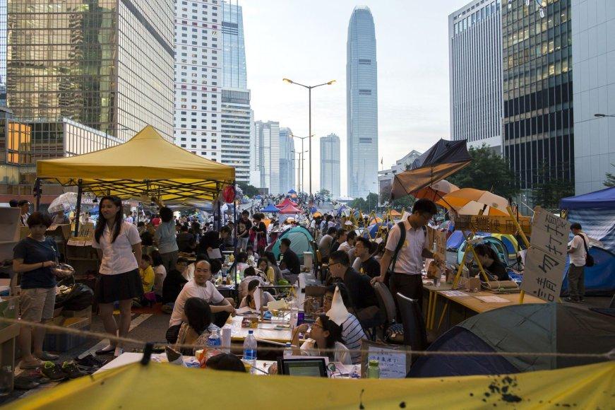 """Occupy Central"" protestuotojai Honkonge"
