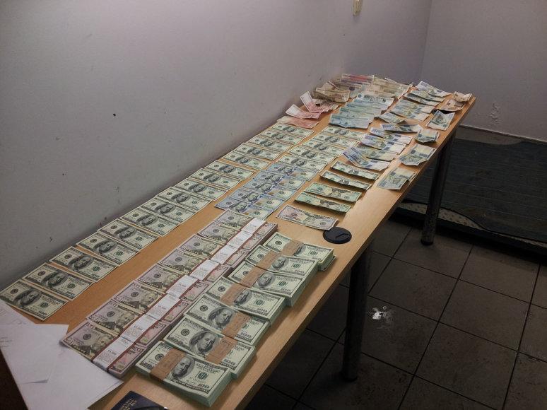 Sulaikyta pinigų kontrabanda