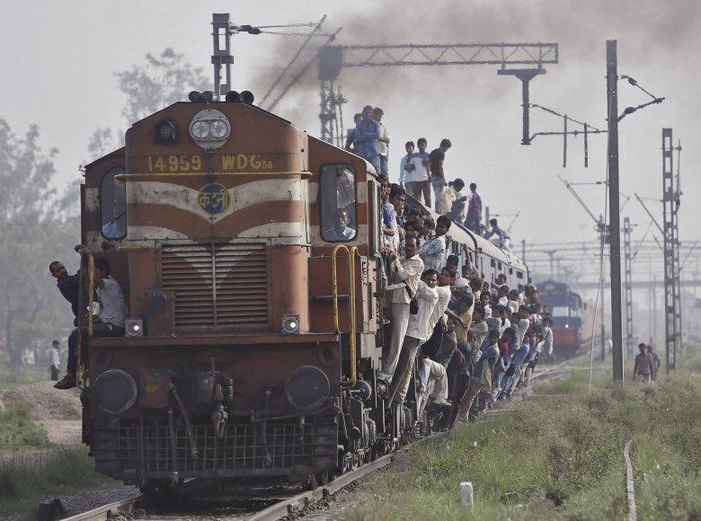 Traukinys Indijoje