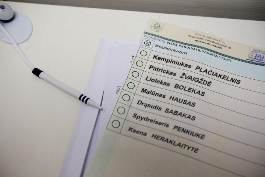 Rinkimų biuletenis. Asociatyvi nuotrauka.
