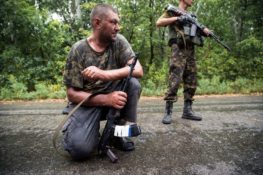 Ukrainos kariai Donecko regione