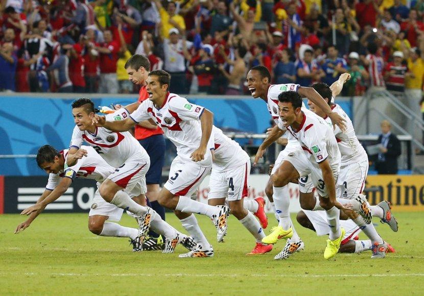 Kosta Rikos rinktinė – pirma kartą pasaulio čempionato ketvirtfinalyje