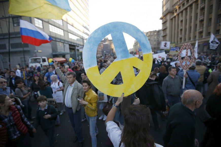 """""""Taikos maršas"""" Maskvoje"""
