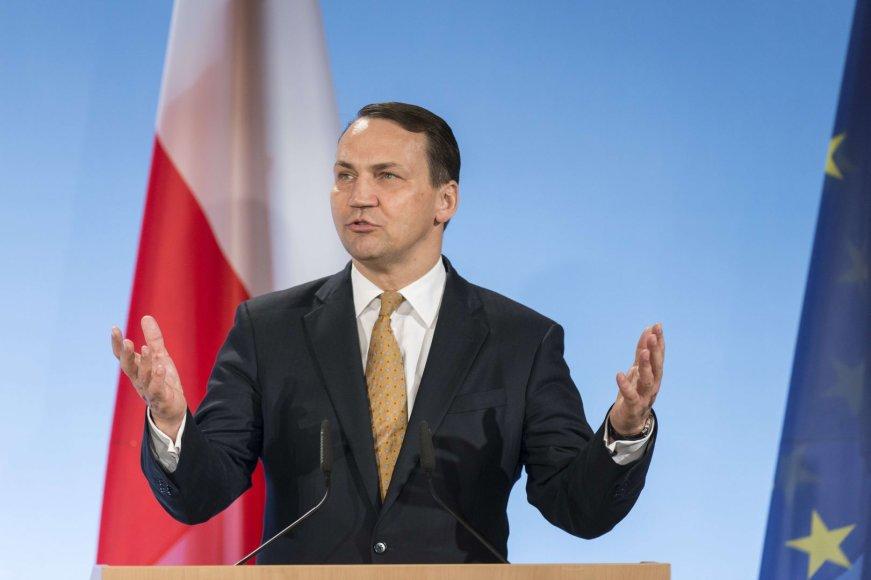 Lenkijos užsienio reikalų ministras Radoslawas Sikorskis