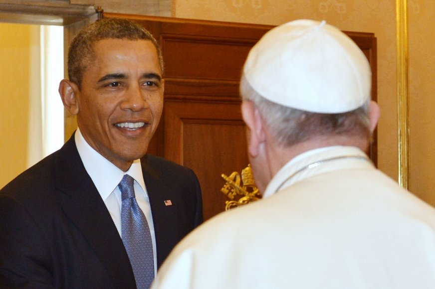 JAV prezidentas Barackas Obama ir Popiežius Pranciškus