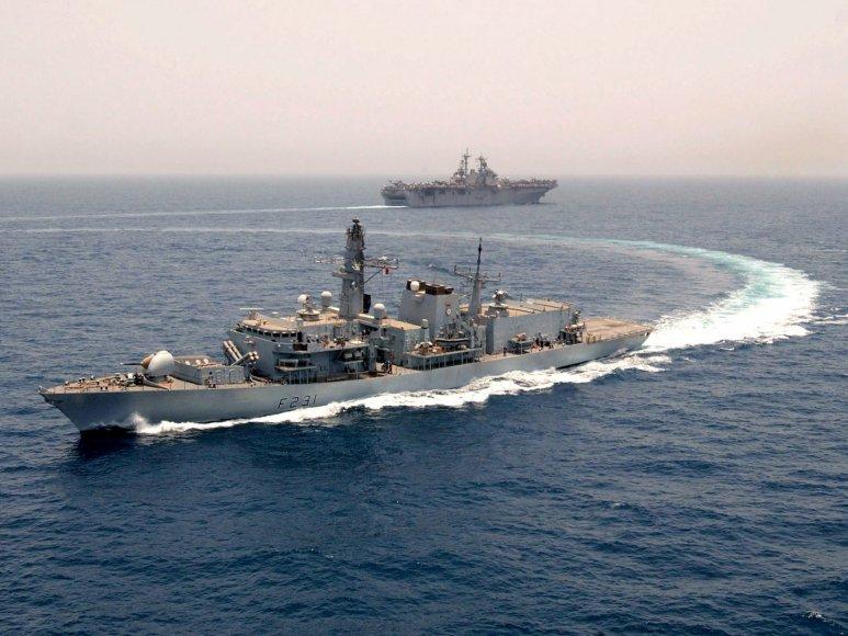 """Britų karinis laivas """"HMS Argyll"""""""