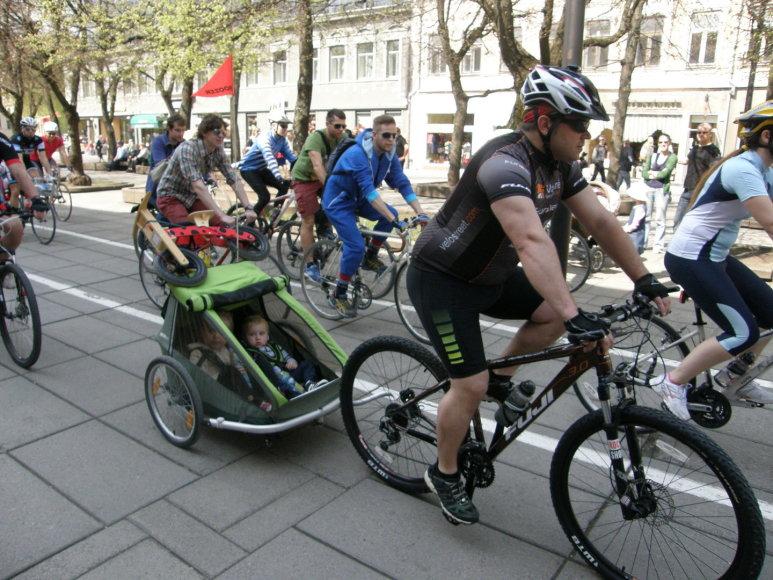 Kaune vyko dviračių paradas