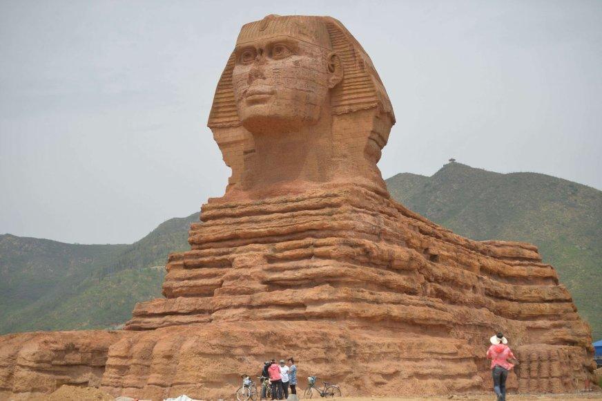 Egipto sfinkso kopija Kinijoje