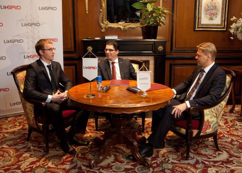 """Projekto """"LitPol Link"""" sutarties pasirašymas"""
