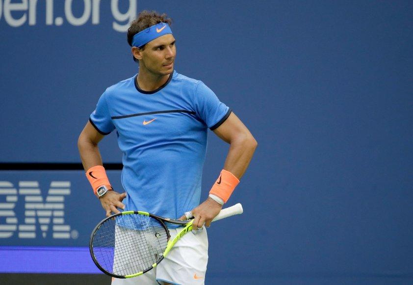"""Rafaelis Nadalis """"US Open"""" čempionato aštuntfinalyje krito prieš Lucasą Pouille"""