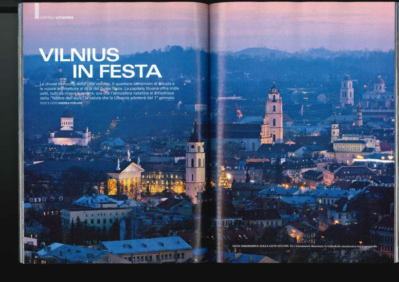 """Prestižinis Italijoje turizmo leidinys  """"Bell'Europa"""" gruodžio mėnesio numeryje  net 10 leidinio puslapių skyrė kalėdinei Vilniaus atmosferai aprašyti."""
