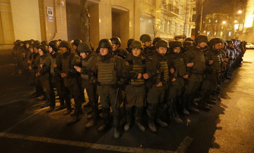 Teisėsaugos pareigūnai Kijeve