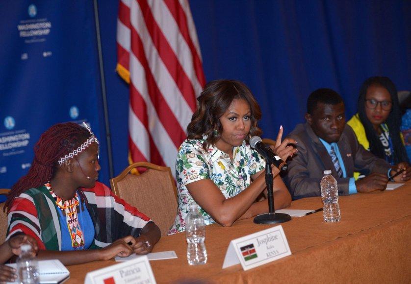 Michelle Obama Afrikos šalių lyderių susitikime Vašingtone