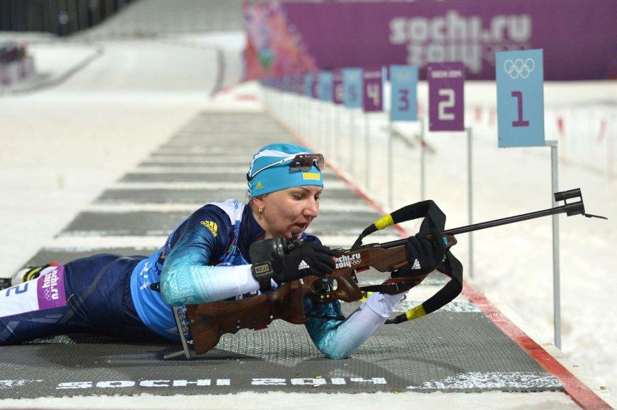 Sočio olimpinių žaidynių čempionė biatlonininkė OlenaPidhrushna