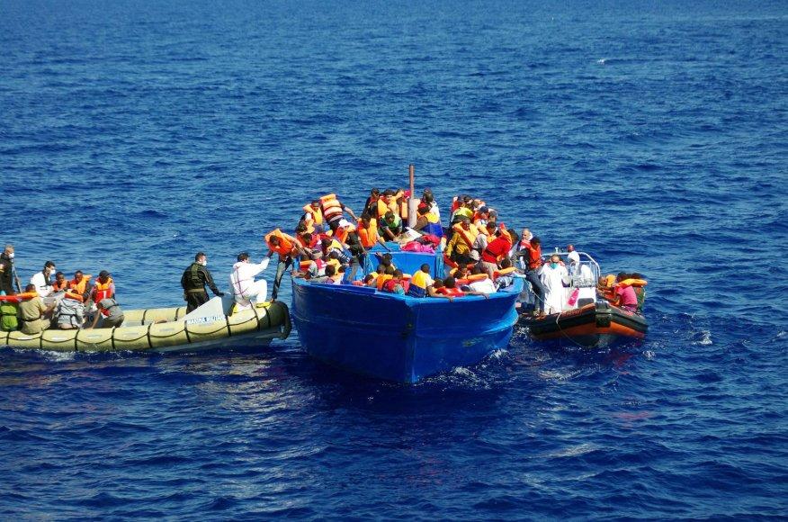 Iš Afrikos šalių į Europą bėgantys migrantai dažnai žūva netoli Libijos krantų