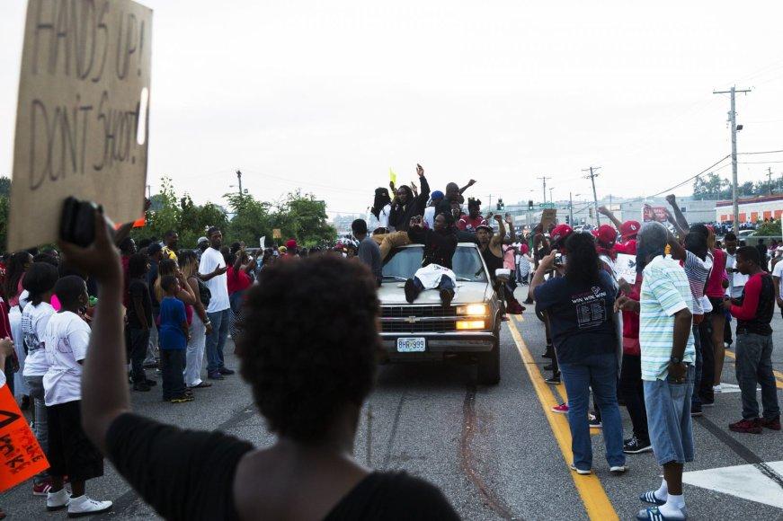 Protestuotojai Misūryje
