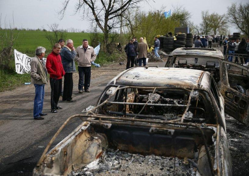 Slavianske išpuolio vietoje