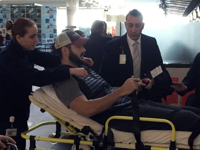 Per išpuolį sužeistas amerikietis Jake'as Raakas