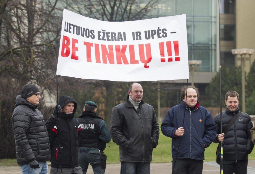Žvejų protestas prie Seimo