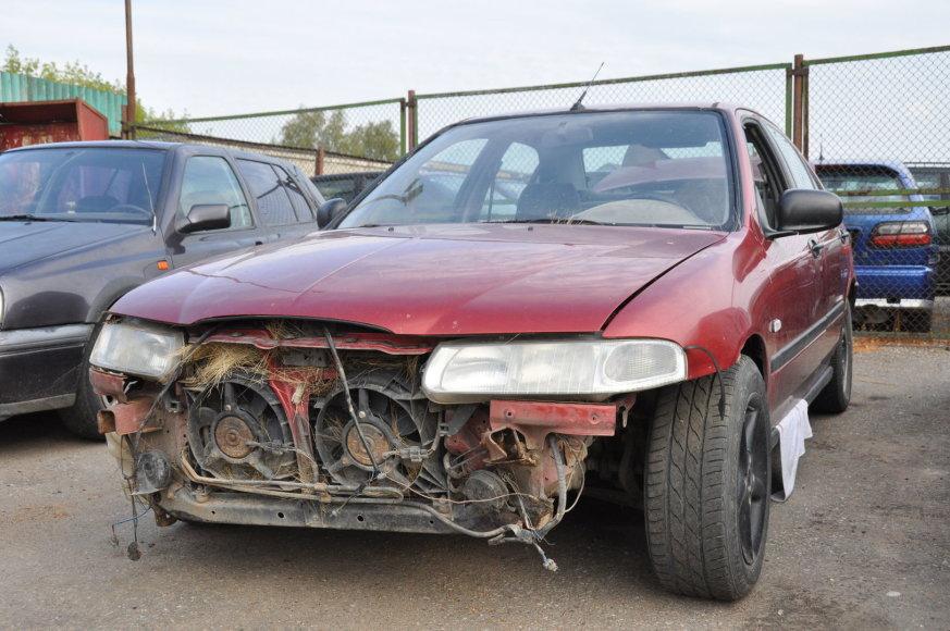 Sudaužytas automobils