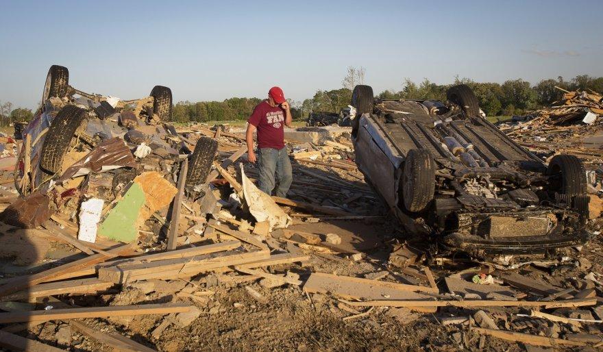 Tornado padariniai Akanzaso valstijoje