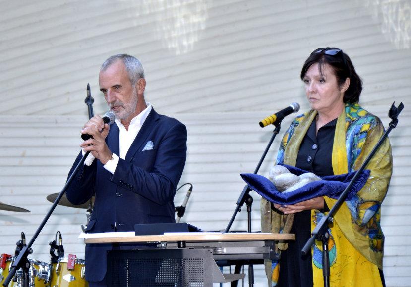 Rimas Tuminas ir Eglė Gabrėnaitė