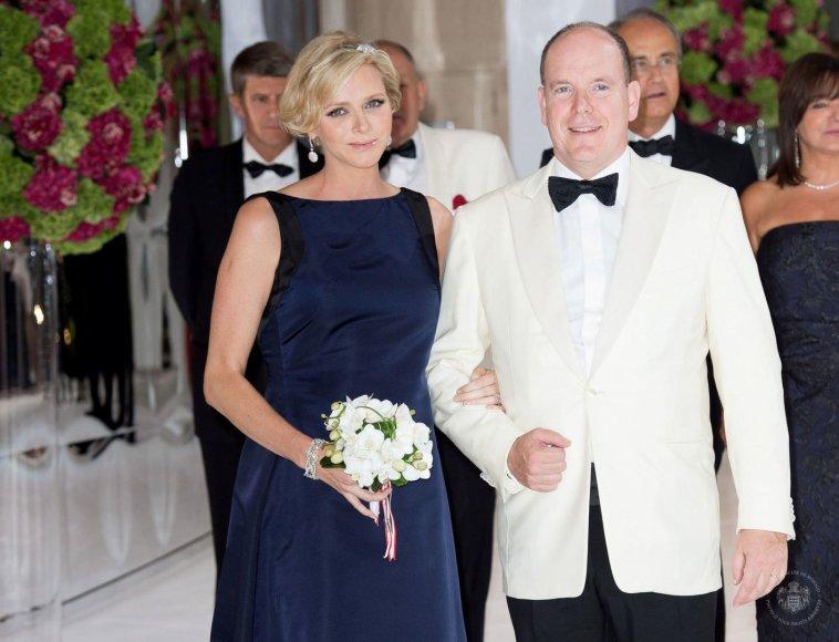 Princesė Charlene ir princas Albertas