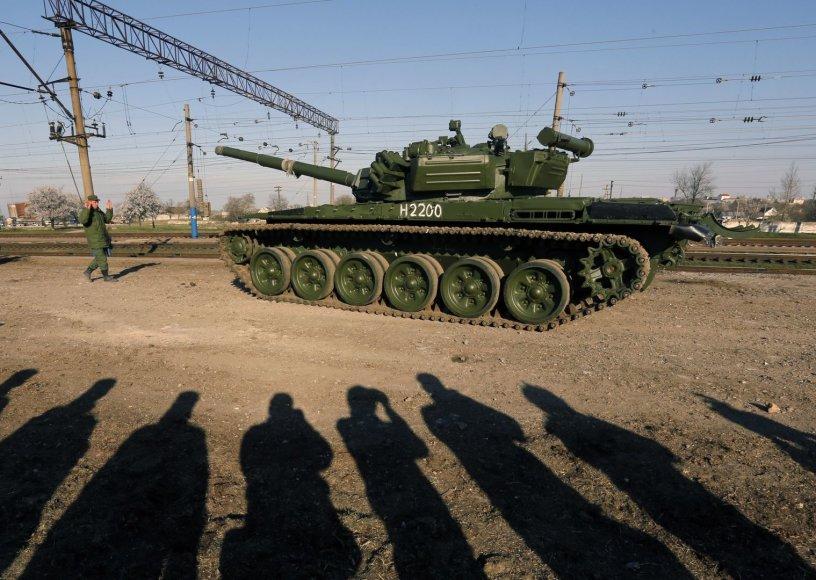 Rusų tankas Kryme