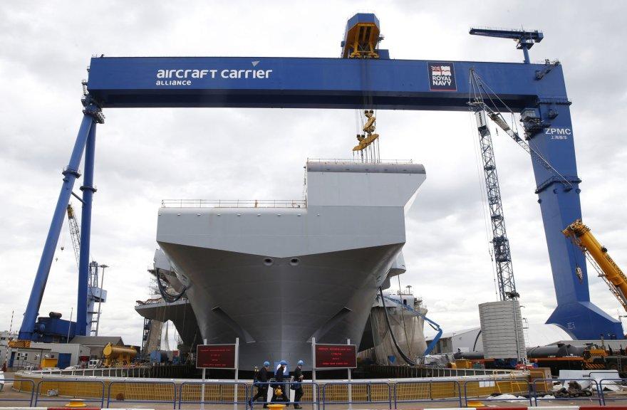 """""""HMS Queen Elizabeth"""" statybos"""